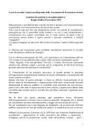 Documento su sussidiarietà e partecipazione - Provincia solidale