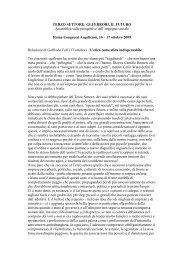 Relazione di Goffredo Fofi - Provincia solidale
