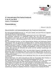 21. Internationales Film Festival Innsbruck 5. bis 10. Juni 2012 ...