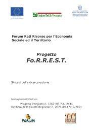 Report Sintesi FORREST - Provincia solidale