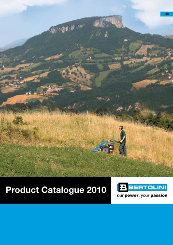 Product Catalogue 2010 - Bertolini