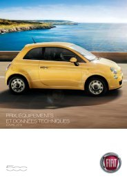 VERSIONS ET PRIX 500 - Fiat Group Automobiles Press