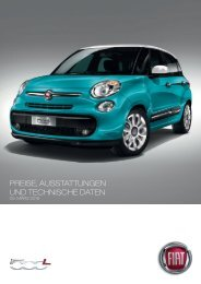 VERSIONEN UND PREISE 500L - Fiat Group Automobiles Press