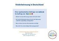 Kinderbetreuung in Deutschland - Jako-o