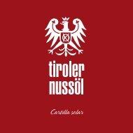 Cartilla solar - Tiroler Nussöl
