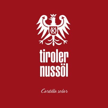 Cartilla solar - Tiroler Nussöl