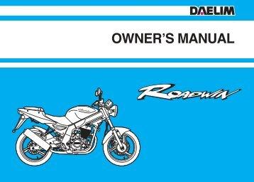 Daelim Roadwin 125cc Owners Manual.pdf - Mojo
