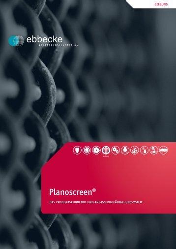 Planoscreen® - Ebbecke Verfahrenstechnik AG