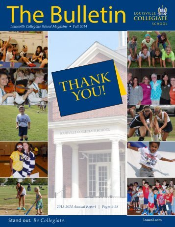 2012-13 Annual Report - Louisville Collegiate School