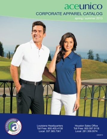 CORPORATE APPAREL CATALOG - Aceunico