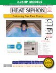 Heat Siphon Swimming Pool Heat Pumps - 2.25HP ... - Olympic Pools - Page 2