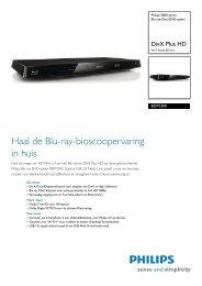 BDP3300/12 Philips Blu-ray Disc/DVD-speler