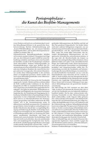 Biofilm-Management