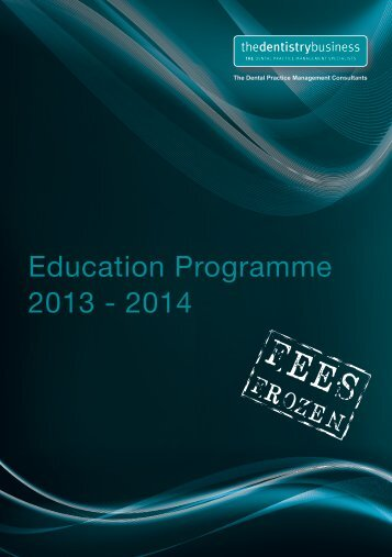 Education Programme 2013 - 2014 - Dentinal Tubules
