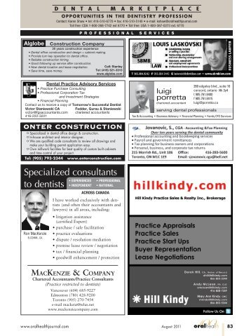 Specialized consultants - Oral Health Journal