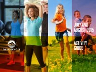 JULY AND AUGUST 2015 ACTIVITY GUIDE