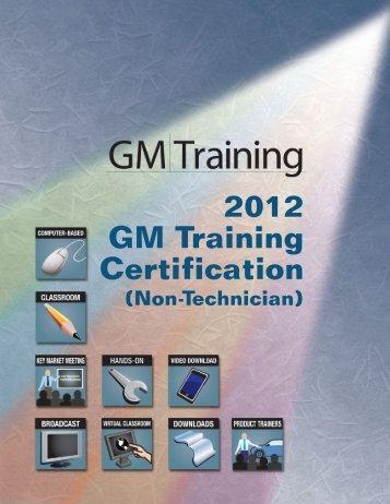 2012 GM Training Certification