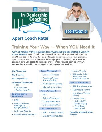 Training Your Way — When YOU Need It Xpert Coach Retail