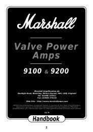 9100/9200 - Valve Power Amps - Marshall