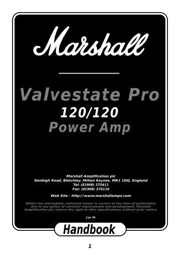 Valvestate Pro 120/120 Handbook - Marshall