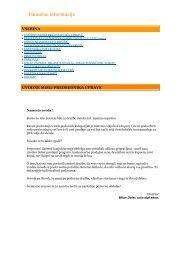 Finančne informacije - Juteks
