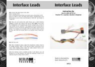 EN735 Interface Leads 68735 Porsche Boxter.pub