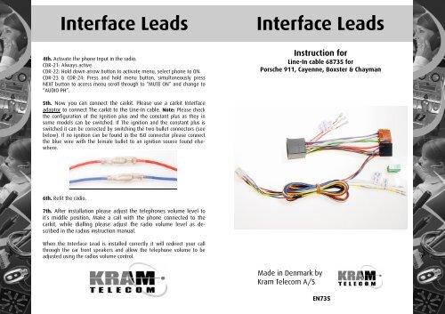 EN735 Interface Leads 68735 Porsche Boxter.pub
