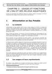 chapitre 3 : usages et fonctions de l'eau et des milieux aquatiques