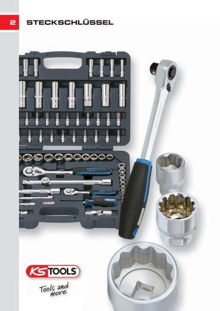 19mm lang KS Tools 917.3839 3//8 CLASSIC Sechskant-Stecknuss