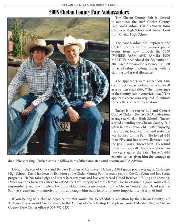 2008 Chelan County Fair Ambassadors