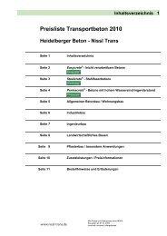 Beton-Preisliste 2011 - Nissl-Trans