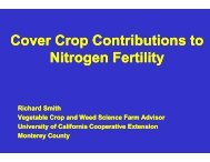 Cover Crops - Monterey County