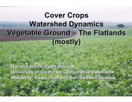 Impacts of Cover Crops on Water Quality - UCCE Monterey County