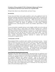 Evaluation of Polyacrylamide (PAM) for Reducing Sediment and ...