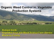 Organic Weed Control in Vegetable Production ... - Monterey County