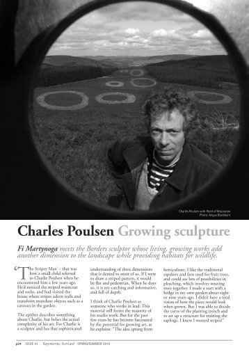 Artist in wood: Charles Poulsen - Reforesting Scotland