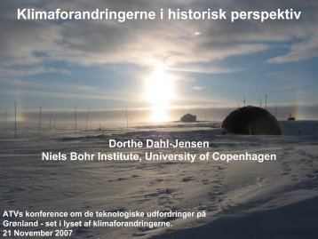 Klimaforandringerne i historisk perspektiv