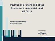 Innovation er mere end et fag konference innovativt mod 09.09.11