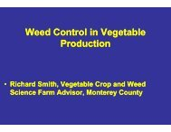 Weed Control in Vegetables - UCCE Monterey County