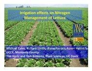 Irrigation effects on Nitrogen Management of ... - Monterey County