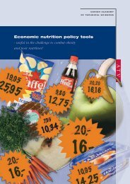 Economic nutrition policy tools