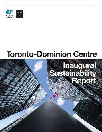 Toronto-Dominion Centre Inaugural Sustainability Report