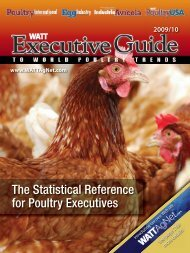 The Statistical Reference for Poultry Executives