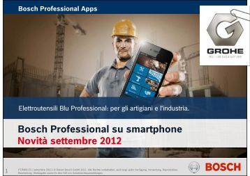 Bosch Professional su smartphone Novità settembre 2012