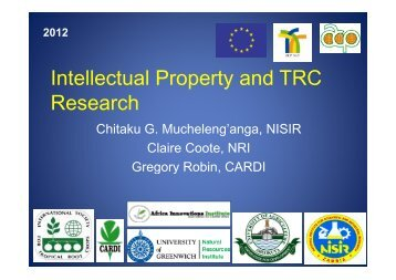 Intellectual Property - Natural Resources Institute