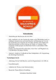 Kriterienkatalog - Abschaffung der Raucherecke ab 26.02.2007 ...