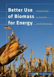 Better Use of Biomass for Energy – Position Paper - IEA Bioenergy