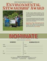 Environmental Stewardship Award - BC Cattlemen's Association