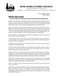 Oliver BC Ranchers Honoured with Environmental Stewardship Award