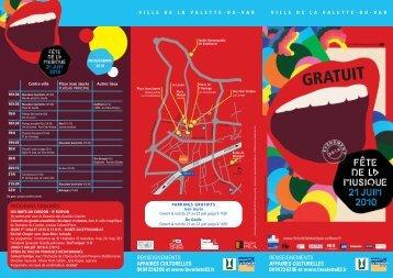 Le programme 2010 - Ville de La Valette-du-Var